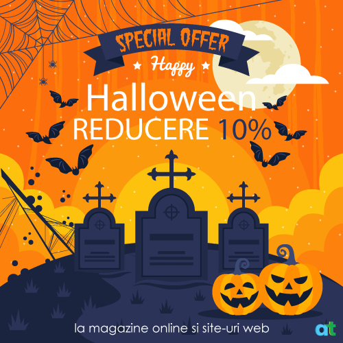 AT Design - Reducere Halloween 2020 realizare magazin online sau site web